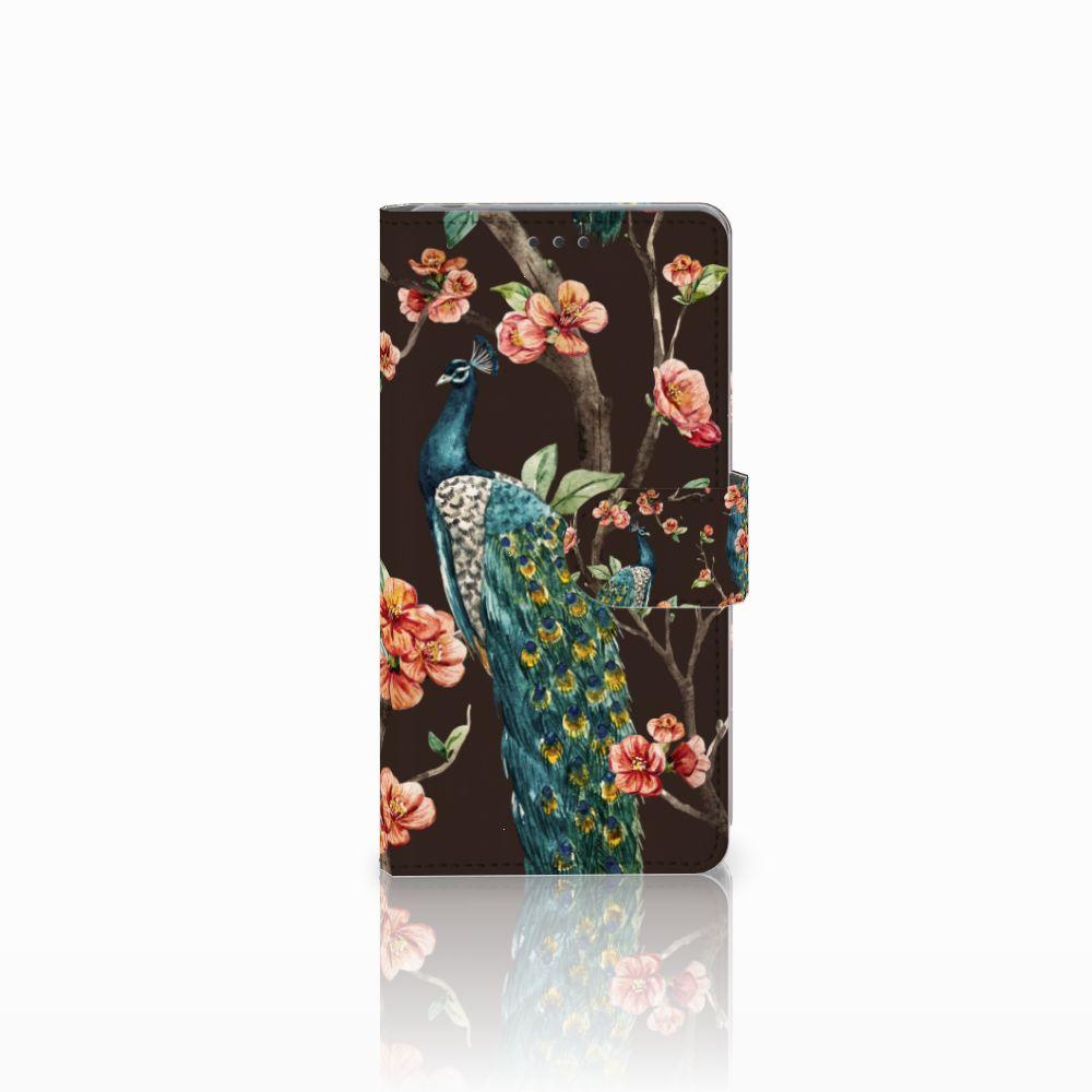 Sony Xperia Z Boekhoesje Design Pauw met Bloemen