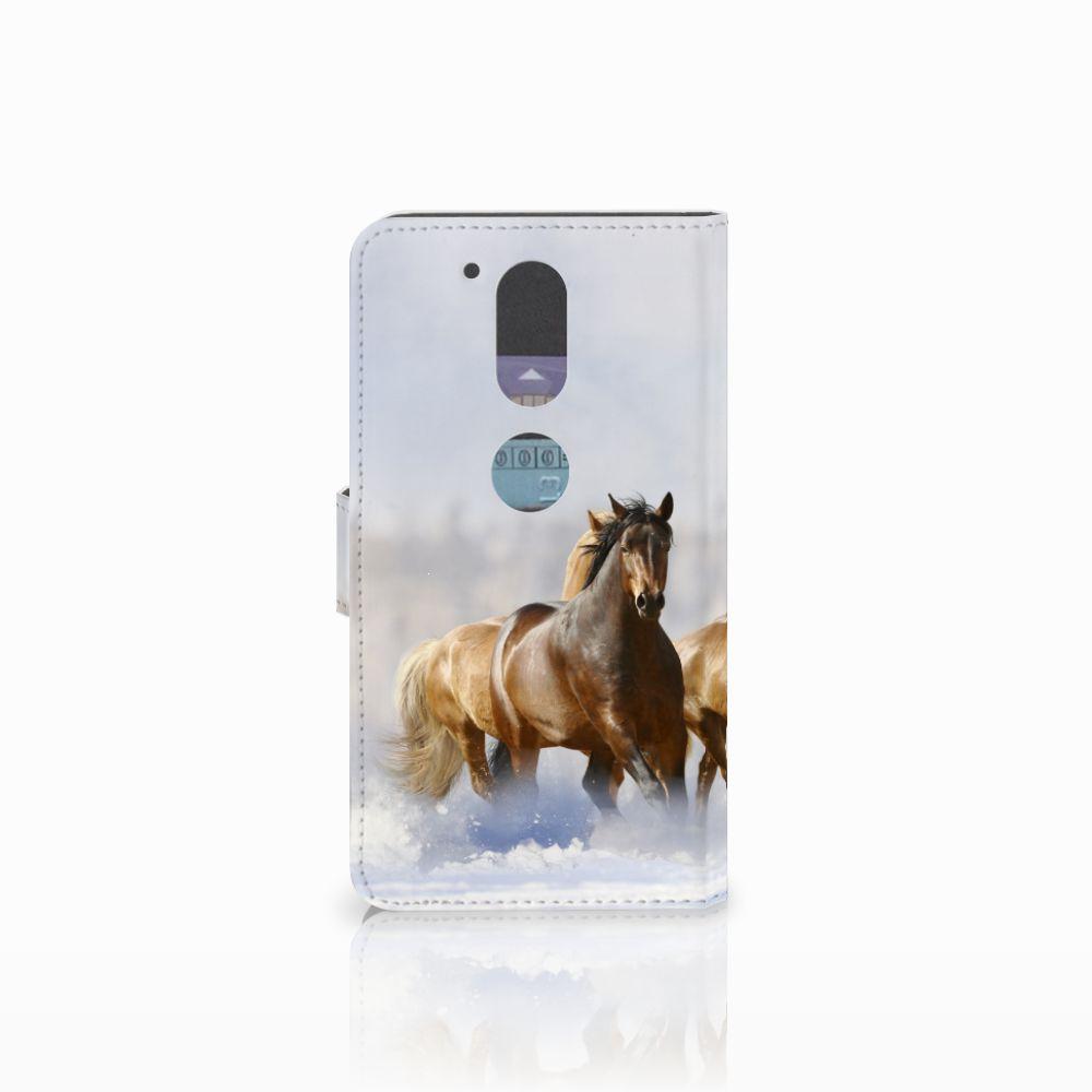 Motorola Moto G4   G4 Plus Telefoonhoesje met Pasjes Paarden
