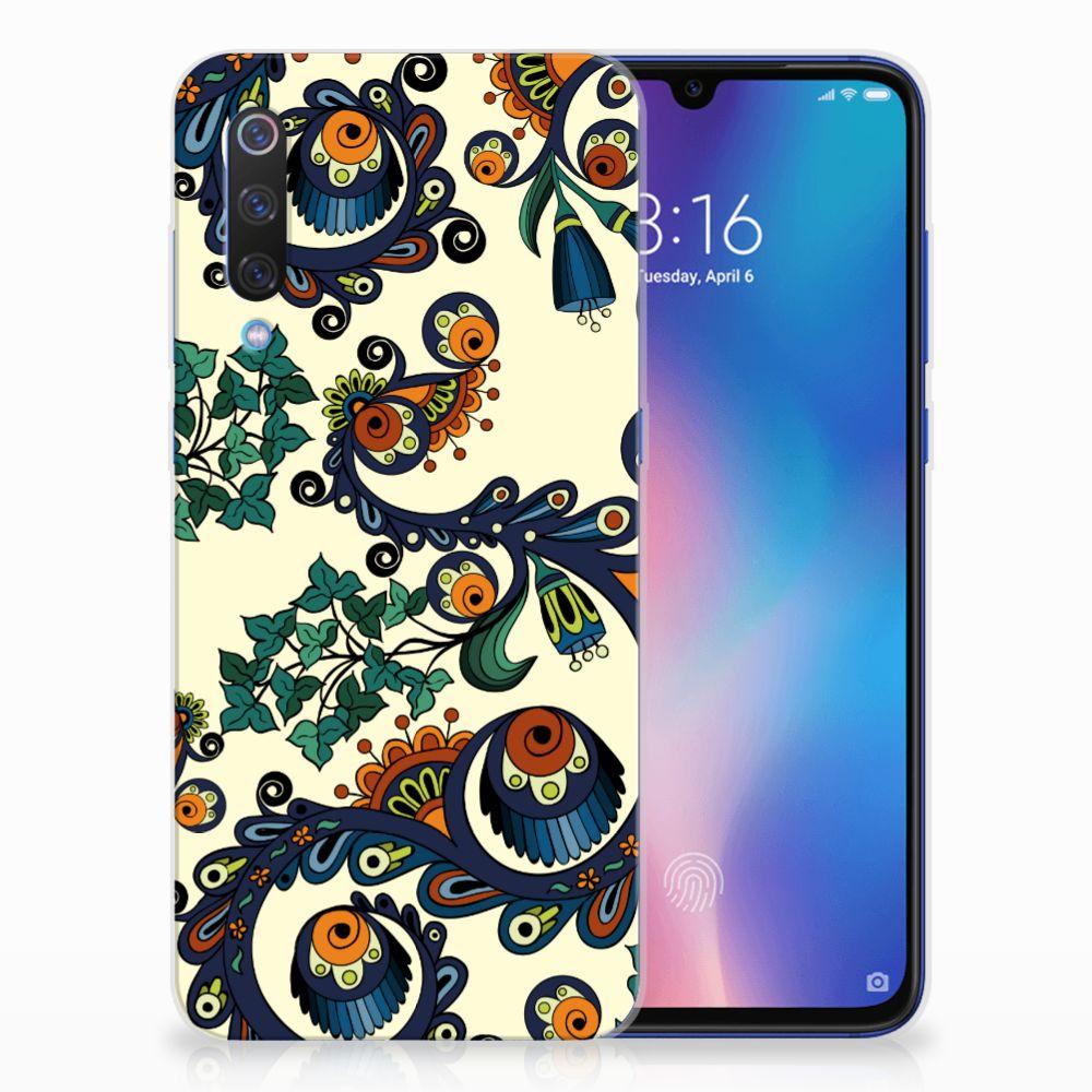 Siliconen Hoesje Xiaomi Mi 9 Barok Flower
