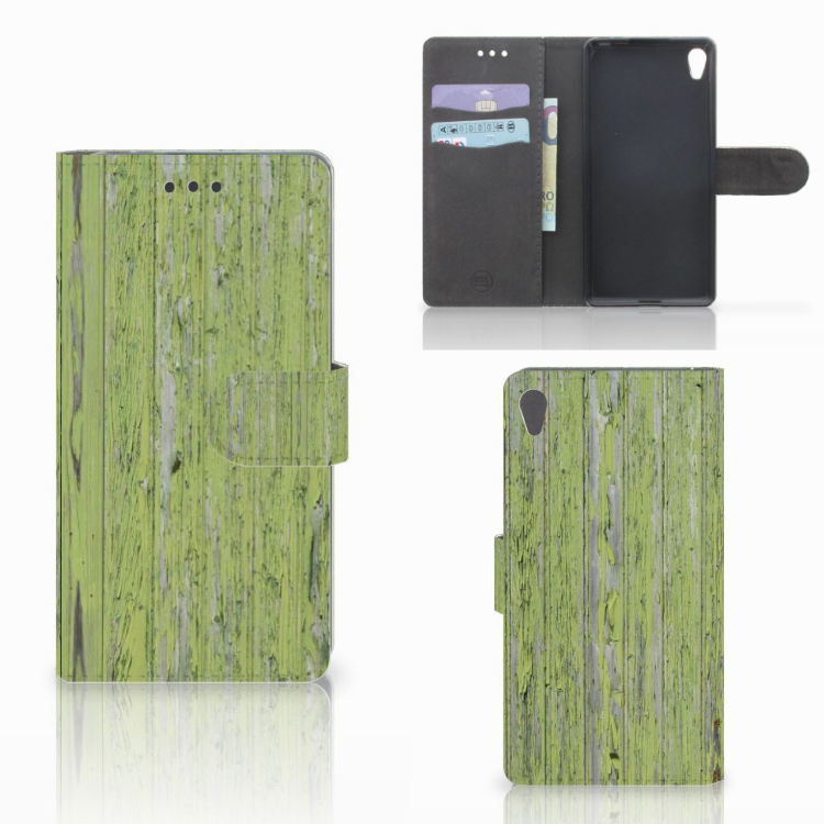 Sony Xperia E5 Book Style Case Green Wood