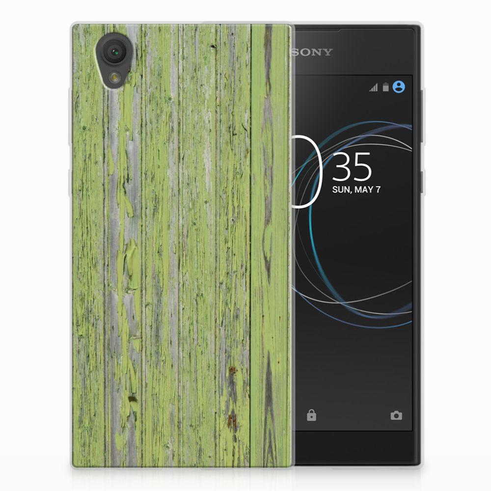 Sony Xperia L1 TPU Hoesje Design Green Wood