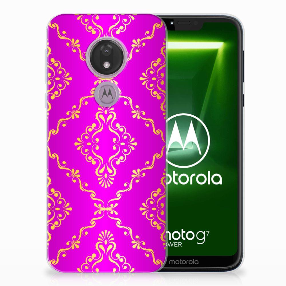 Siliconen Hoesje Motorola Moto G7 Power Barok Roze