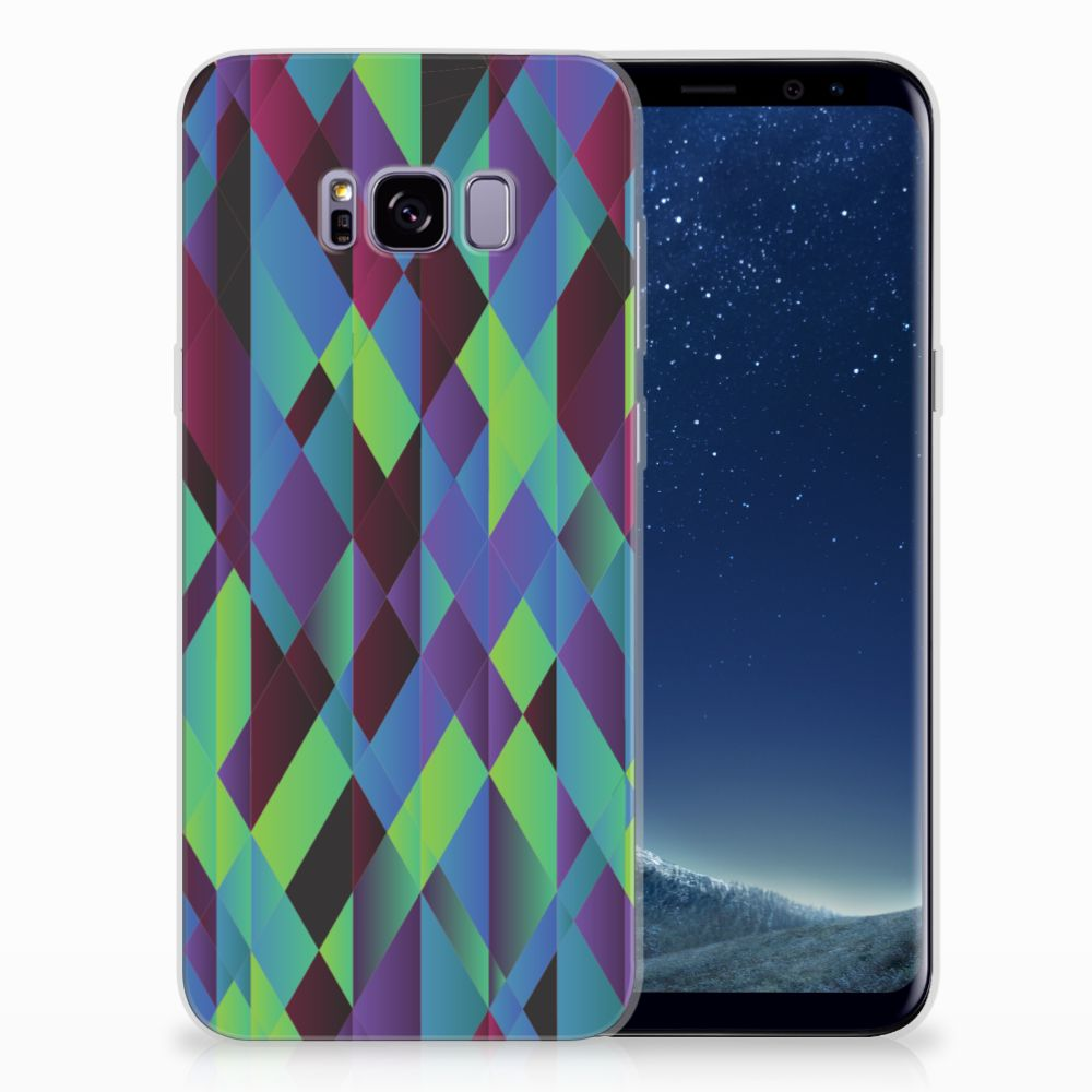 Samsung Galaxy S8 Plus TPU Hoesje Abstract Green Blue