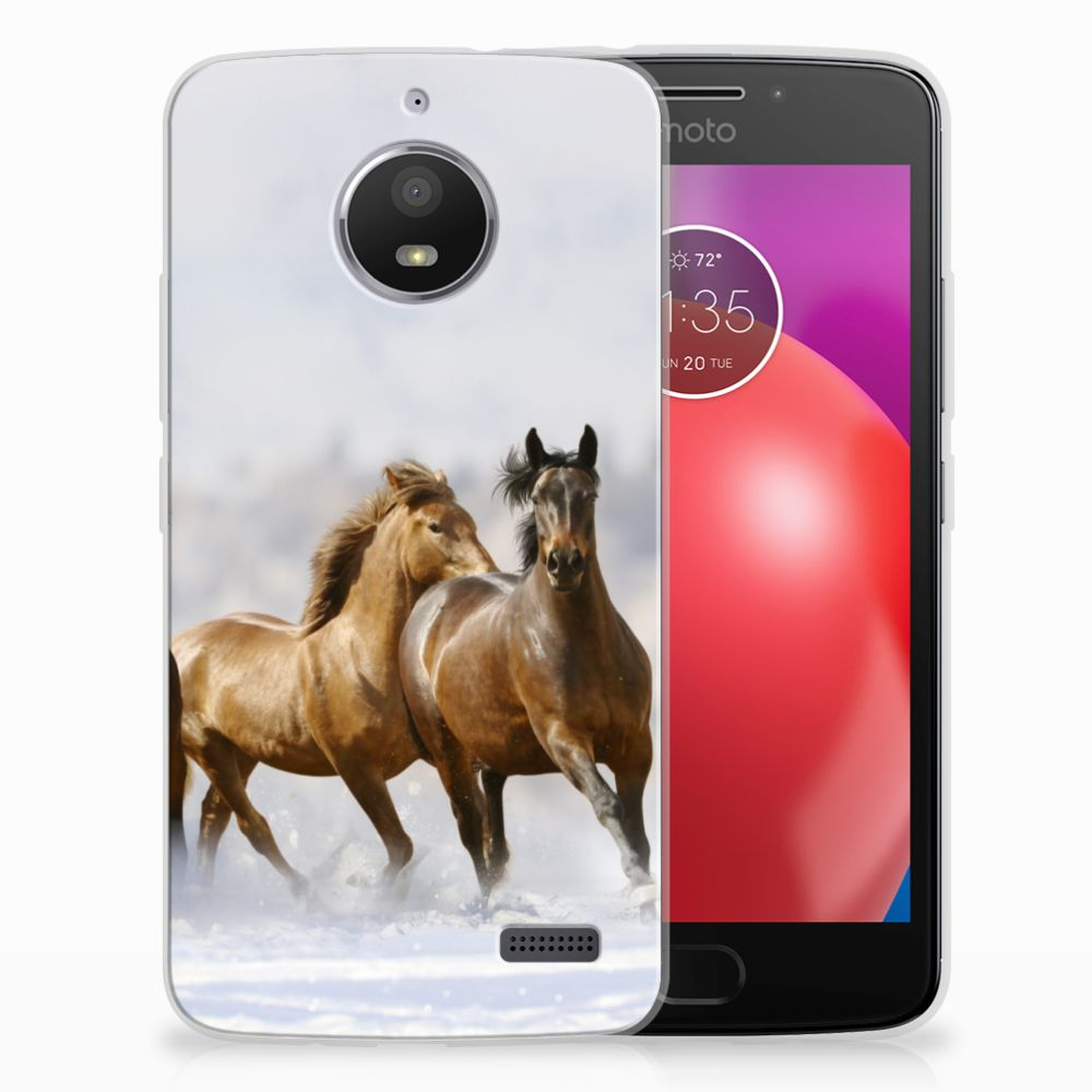 Motorola Moto E4 TPU Hoesje Paarden