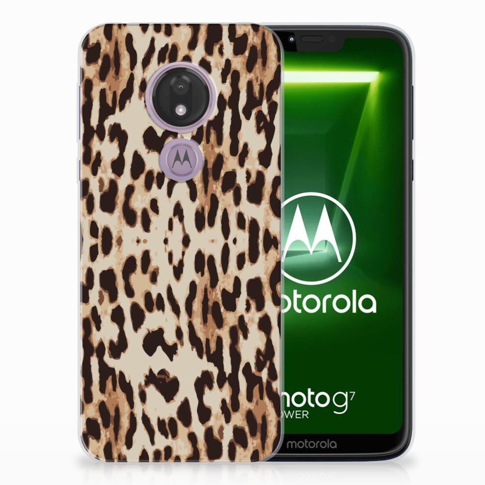Motorola Moto G7 Power TPU Hoesje Leopard