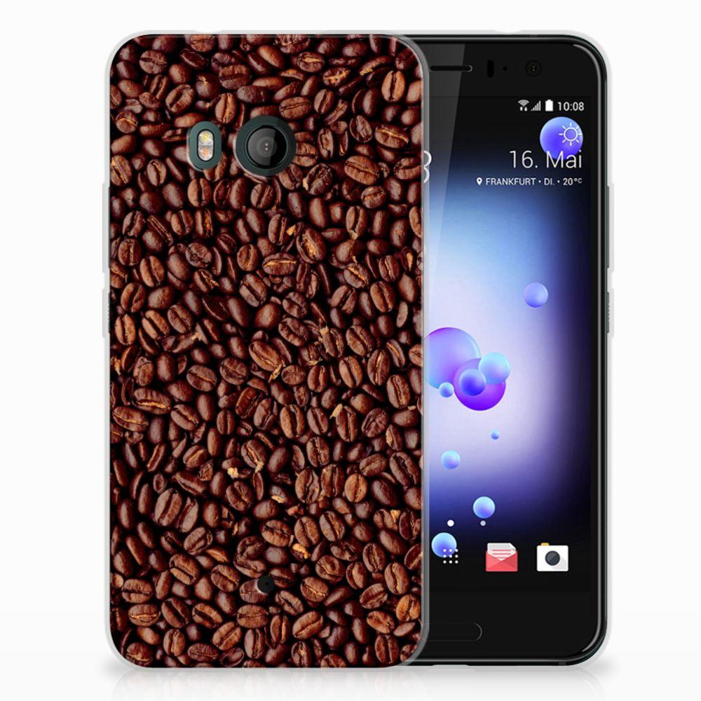 HTC U11 Siliconen Case Koffiebonen
