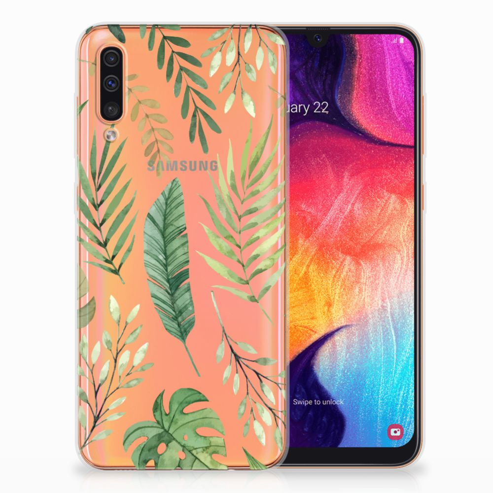 Samsung Galaxy A50 TPU Case Leaves