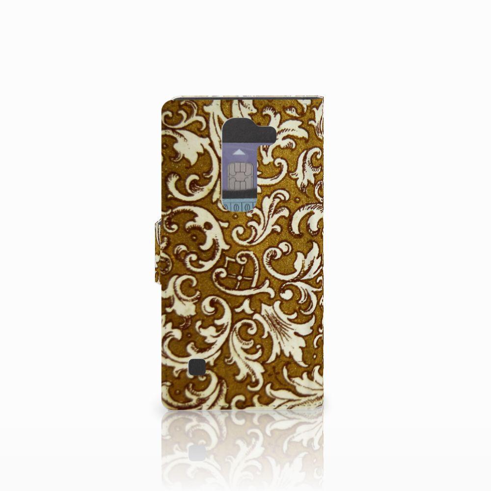 Wallet Case LG Spirit Barok Goud