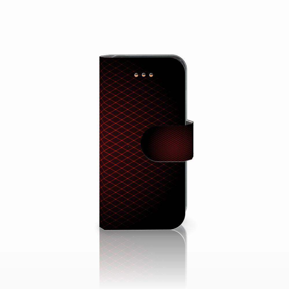 Apple iPhone 5C Uniek Boekhoesje Geruit Rood