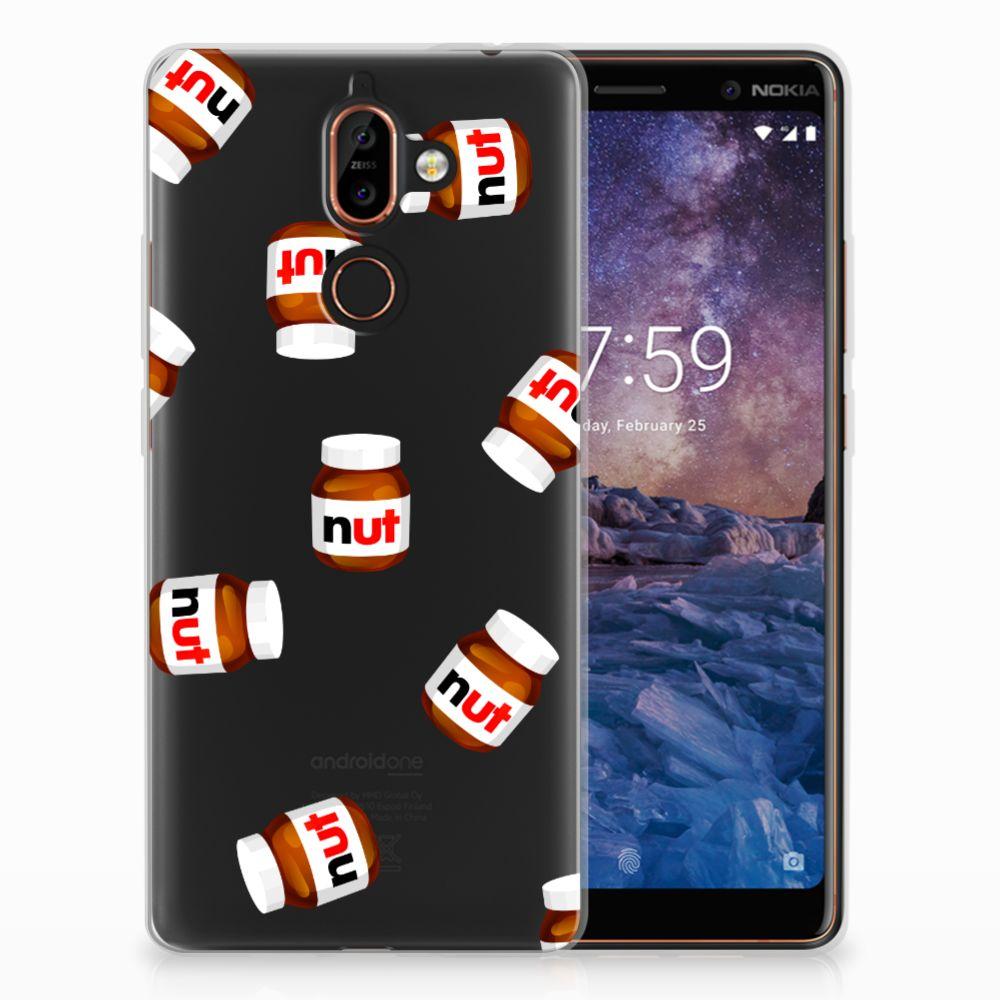 Nokia 7 Plus Siliconen Case Nut Jar