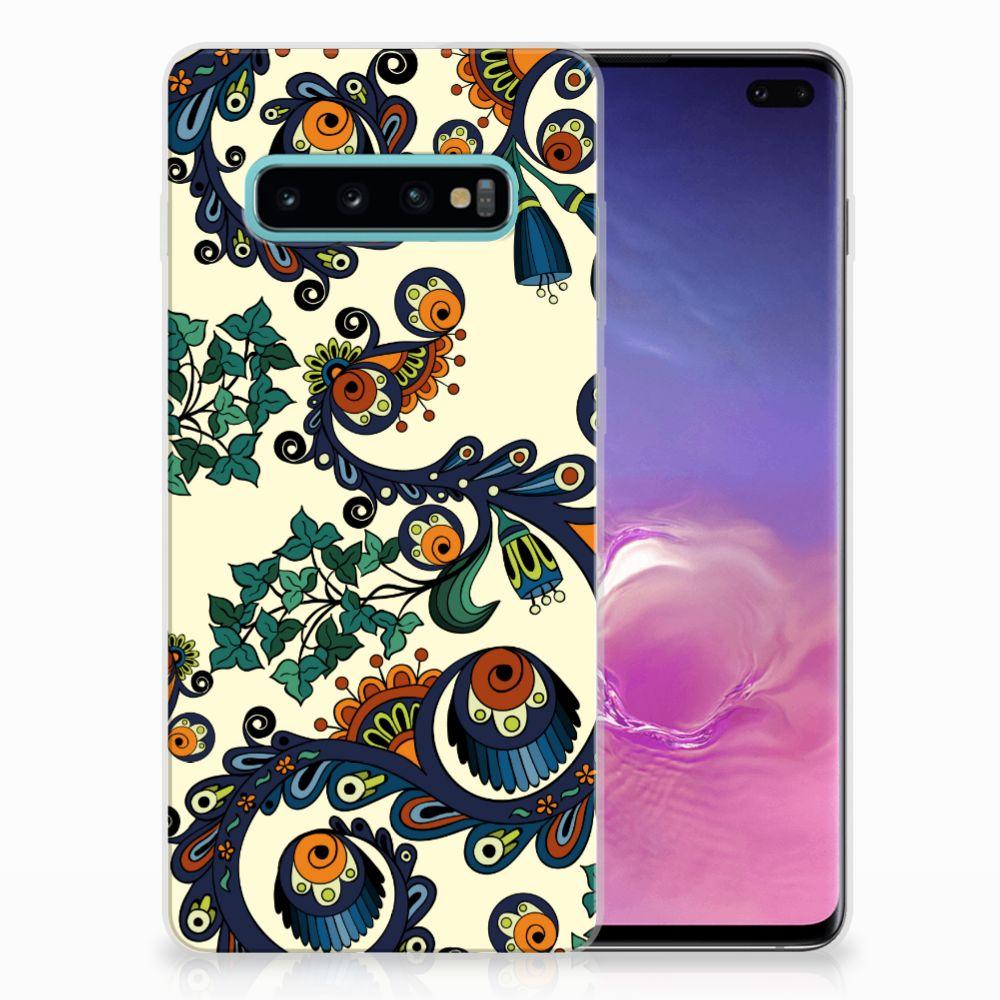Samsung Galaxy S10 Plus TPU Hoesje Design Barok Flower