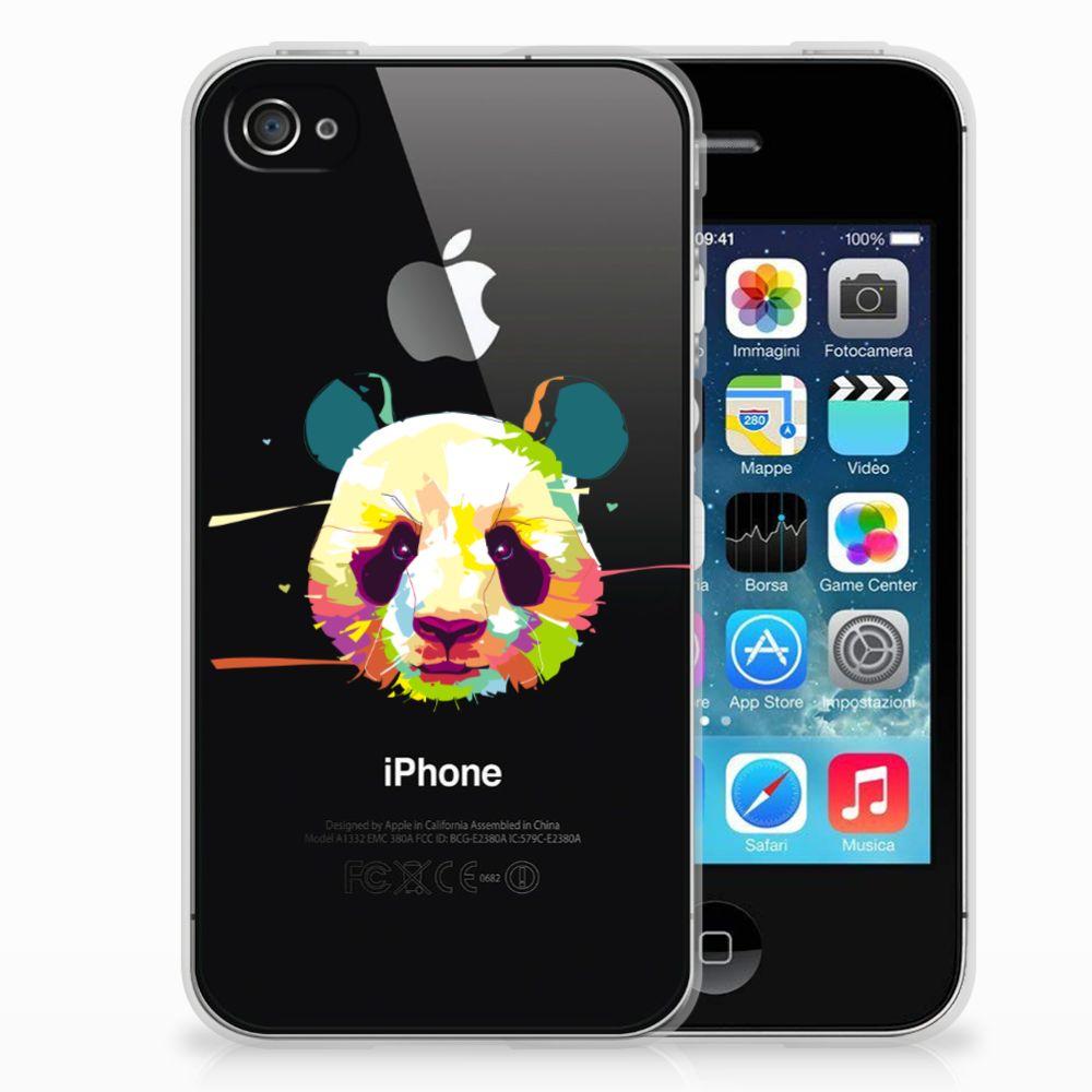 Apple iPhone 4 | 4s Telefoonhoesje met Naam Panda Color