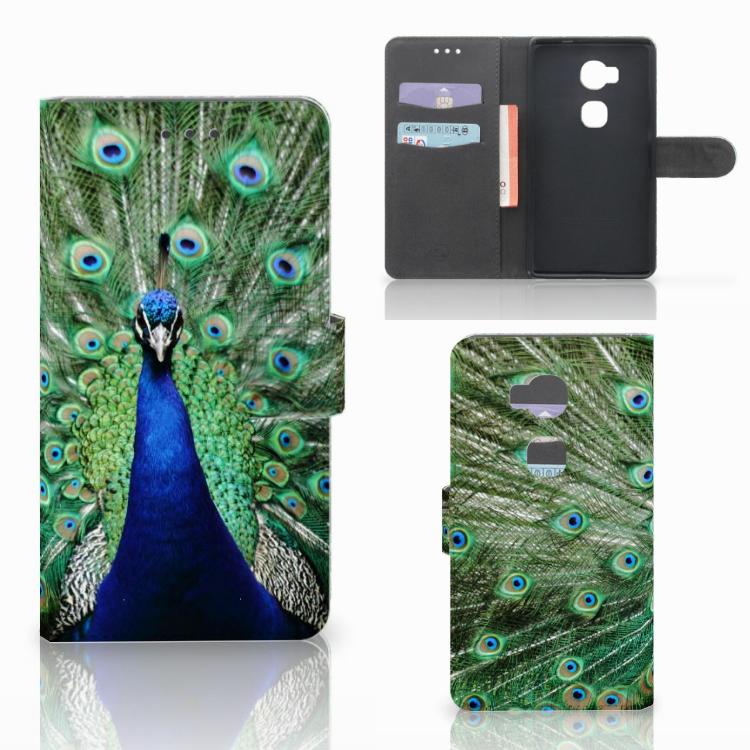 Huawei Honor 5X Telefoonhoesje met Pasjes Pauw