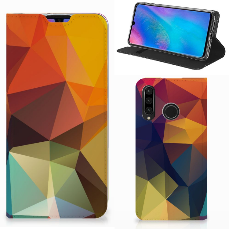Huawei P30 Lite Stand Case Polygon Color