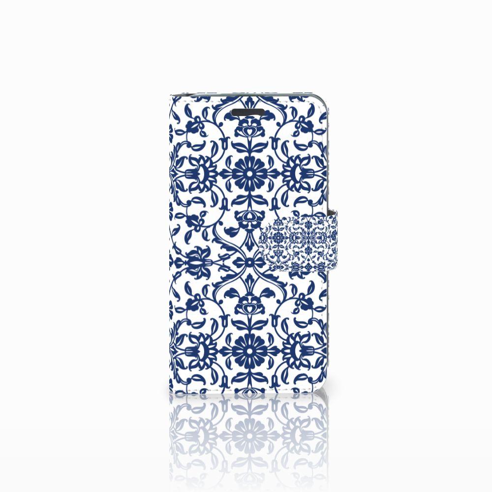 Acer Liquid Z520 Uniek Boekhoesje Flower Blue