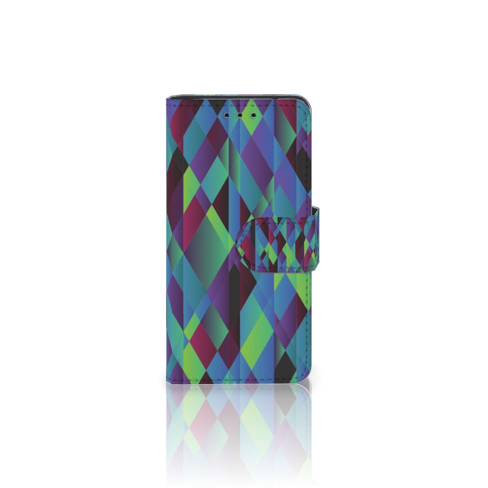 Samsung Galaxy S5 Mini Bookcase Abstract Green Blue