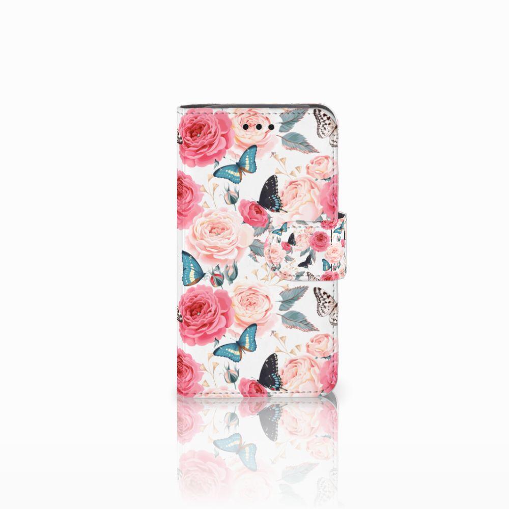 Samsung Galaxy Core i8260 Uniek Boekhoesje Butterfly Roses