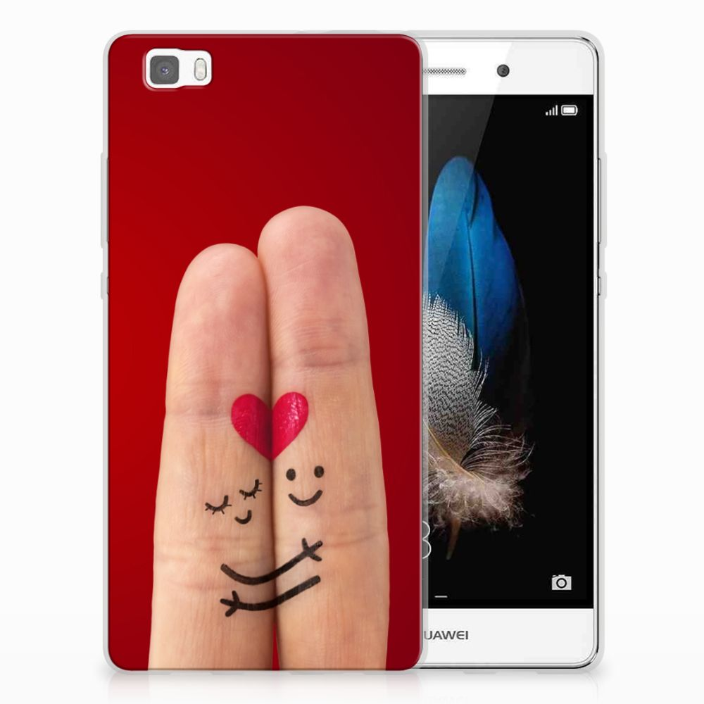 Huawei Ascend P8 Lite Silicone Back Cover Liefde