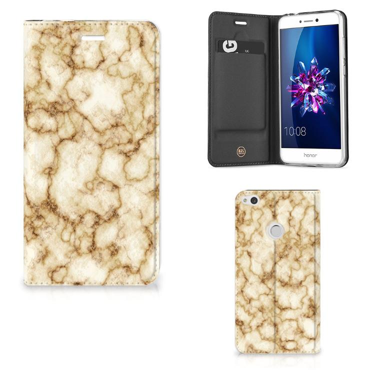 Huawei P8 Lite 2017 Standcase Marmer Goud