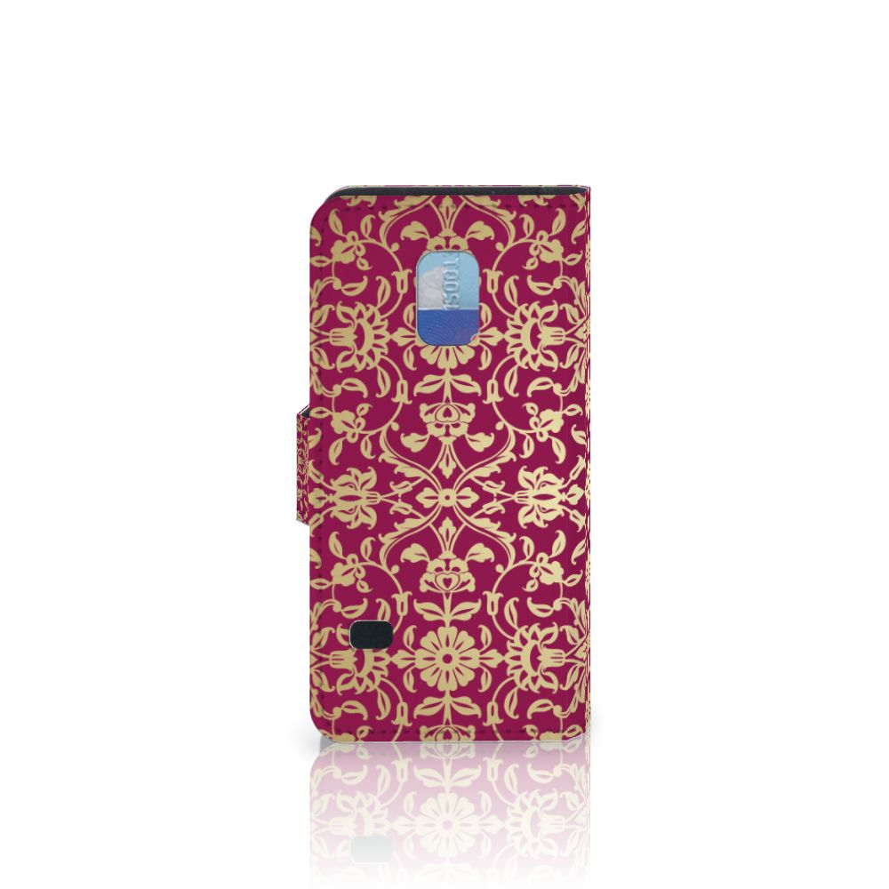 Wallet Case Samsung Galaxy S5 Mini Barok Pink