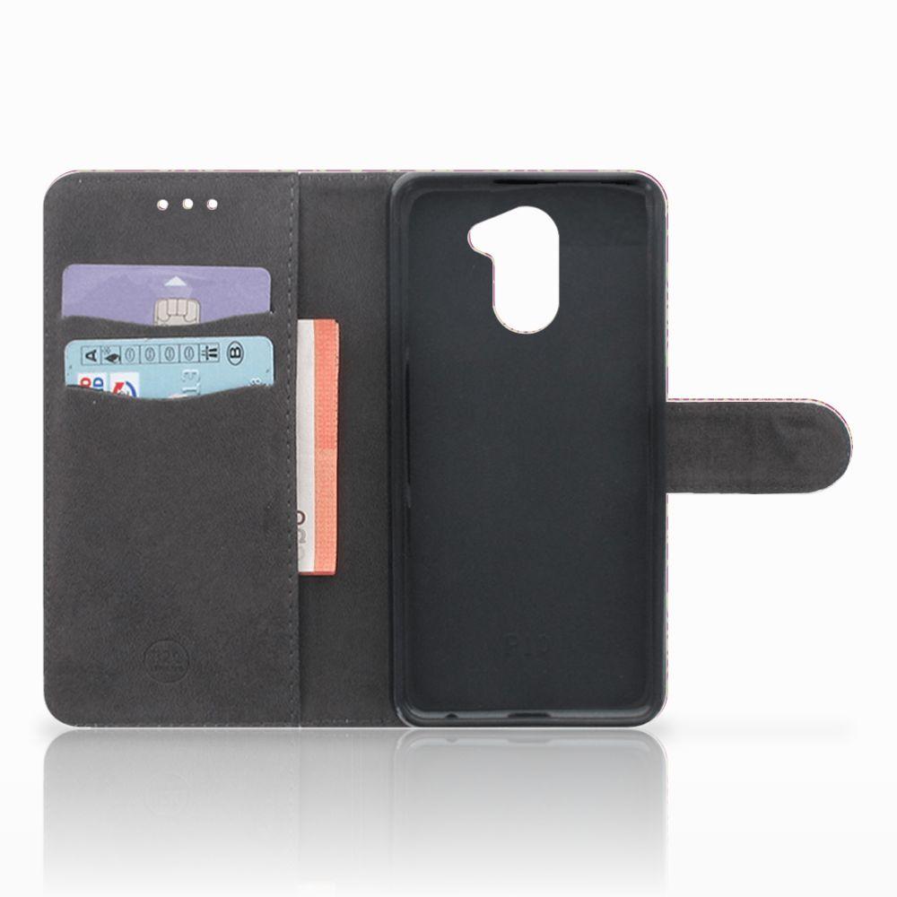 Wallet Case Huawei Y7 2017 | Y7 Prime 2017 Barok Pink