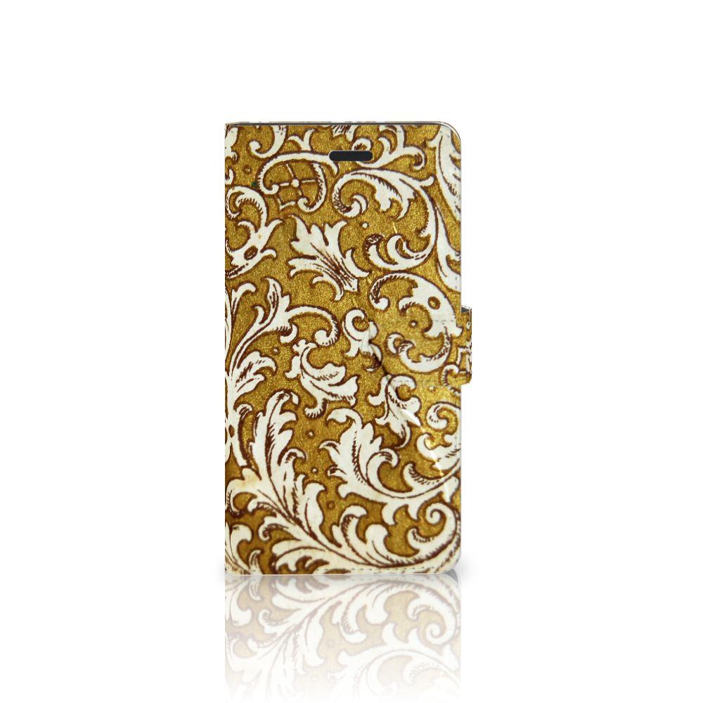 Samsung Galaxy A7 2017 Boekhoesje Design Barok Goud