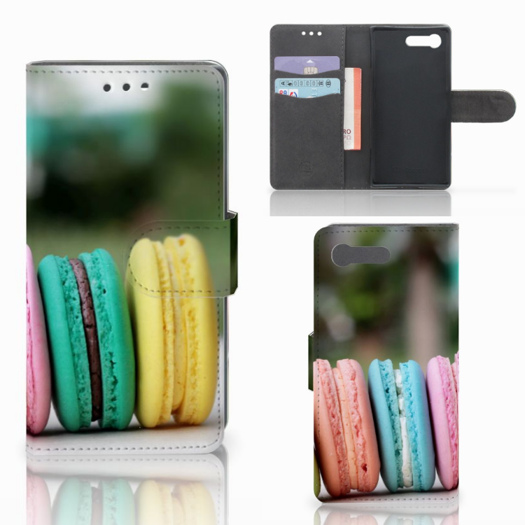 Sony Xperia X Compact Book Cover Macarons