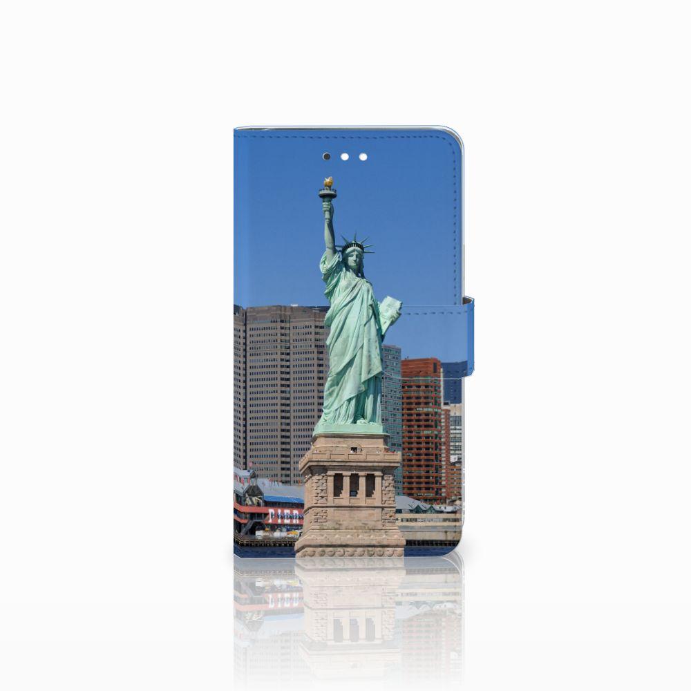Huawei Ascend G7 Uniek Boekhoesje Vrijheidsbeeld