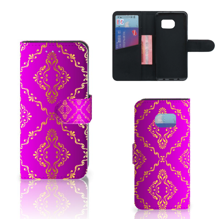 Wallet Case Samsung Galaxy S6 Edge Barok Roze