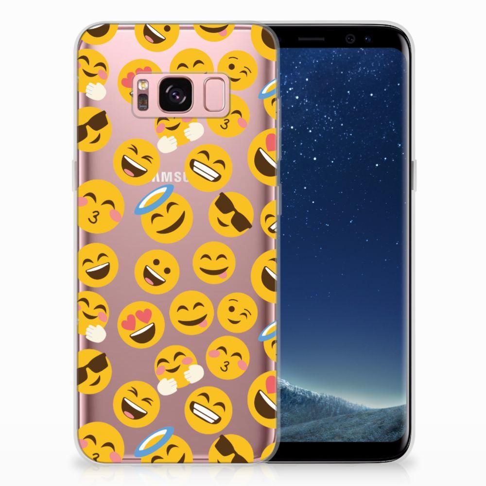 Samsung Galaxy S8 TPU Hoesje Design Emoji
