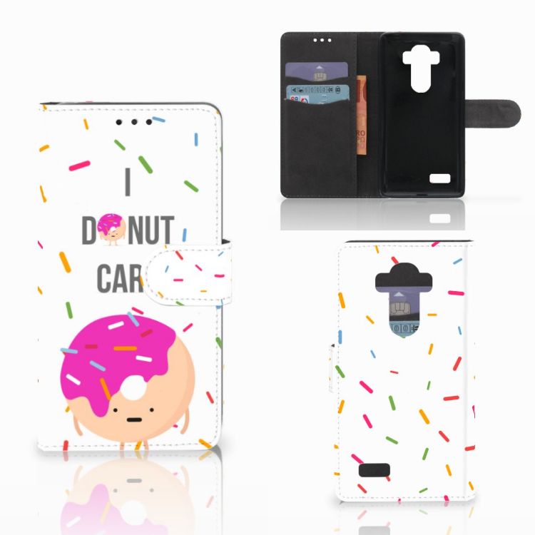 LG G4 Book Cover Donut Roze