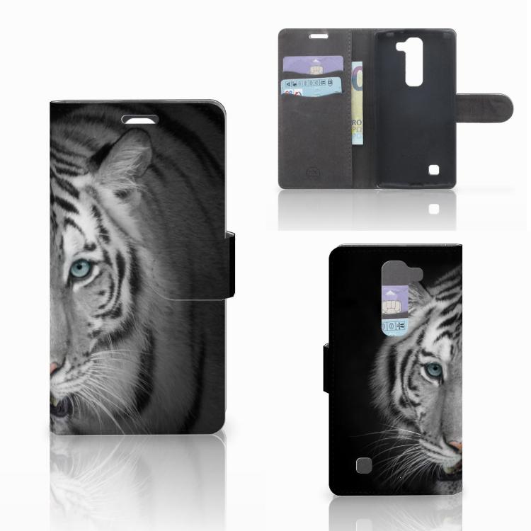 LG Magna | G4C Telefoonhoesje met Pasjes Tijger