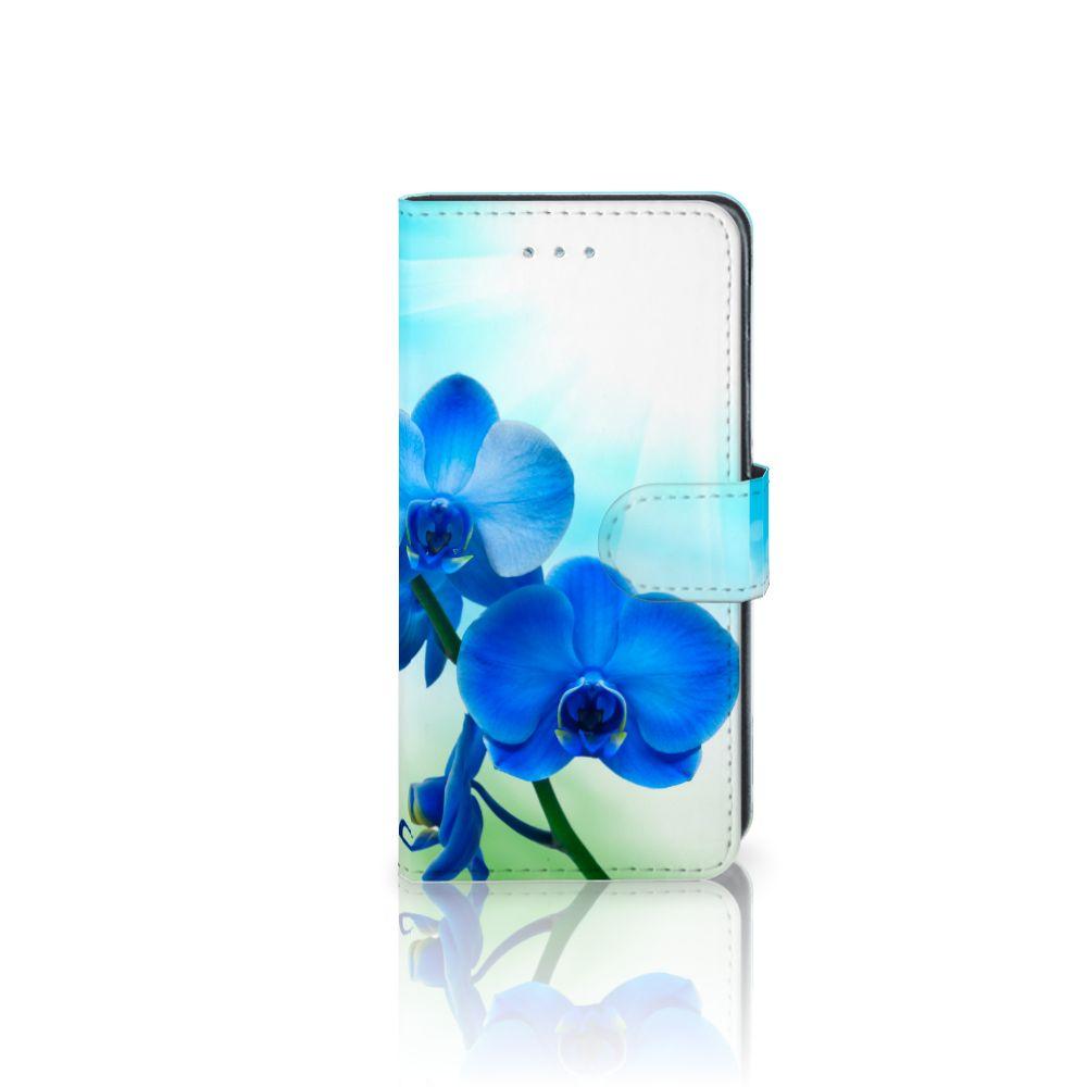 Samsung Galaxy J3 2016 Boekhoesje Design Orchidee Blauw