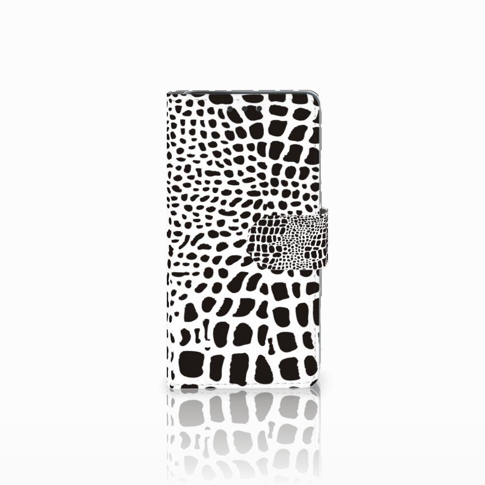 Sony Xperia X Telefoonhoesje met Pasjes Slangenprint