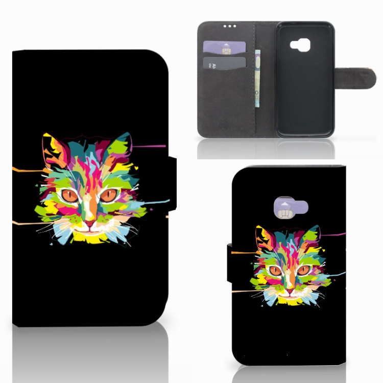 Samsung Galaxy Xcover 4 | Xcover 4s Leuke Hoesje Cat Color