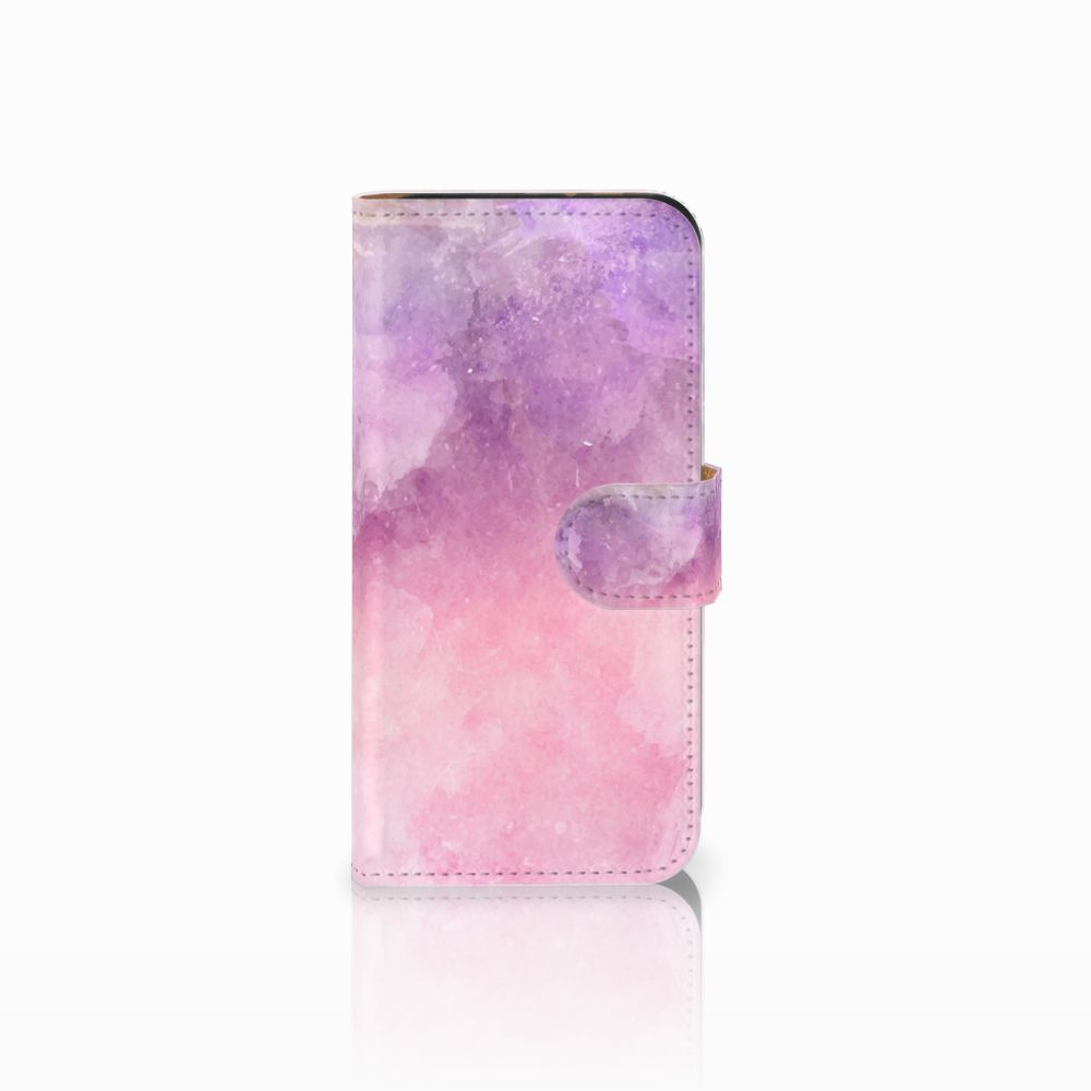 HTC One Mini 2 Boekhoesje Design Pink Purple Paint