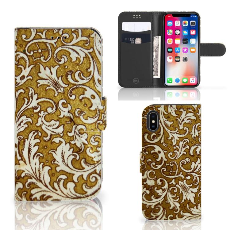 Wallet Case Apple iPhone X | Xs Barok Goud