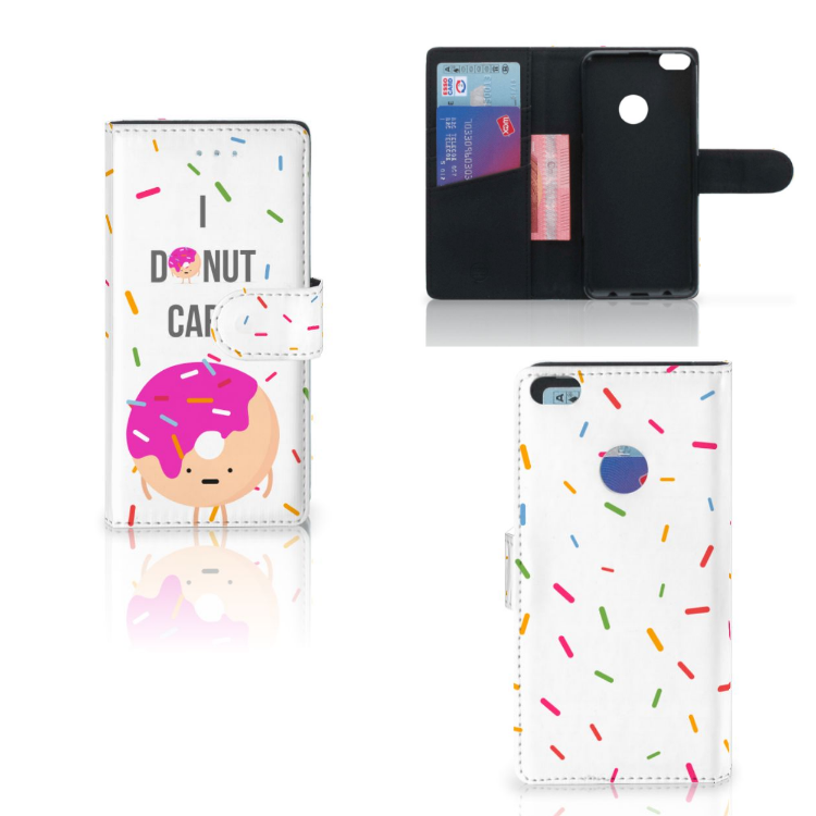 Huawei P8 Lite 2017 Book Cover Donut Roze