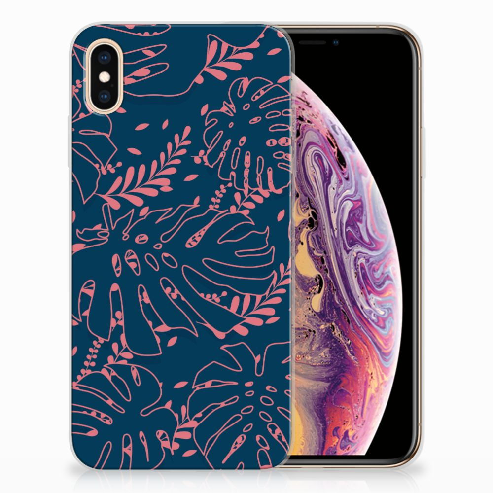 Apple iPhone Xs Max TPU Hoesje Design Palm Leaves