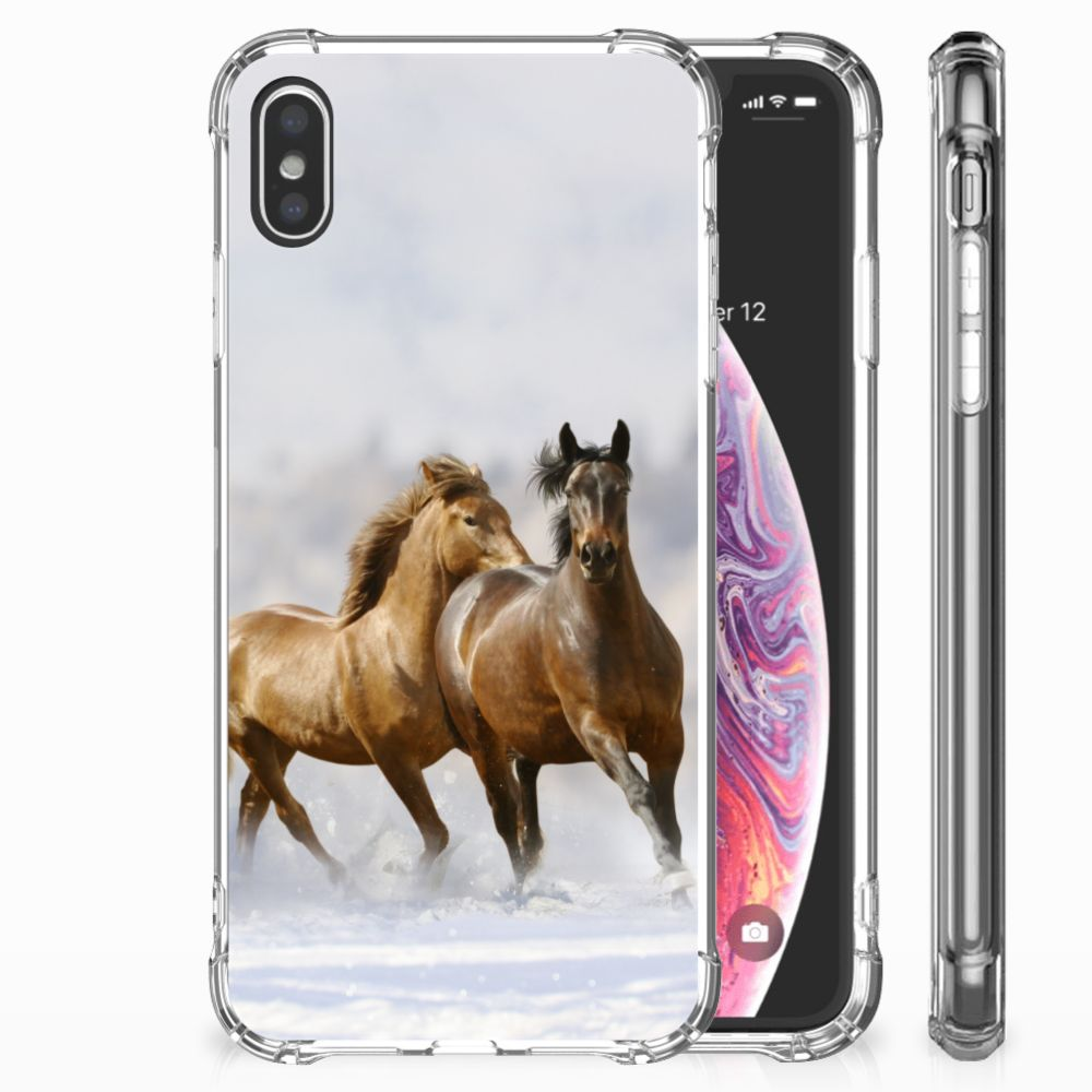 Apple iPhone Xs Max Case Anti-shock Paarden