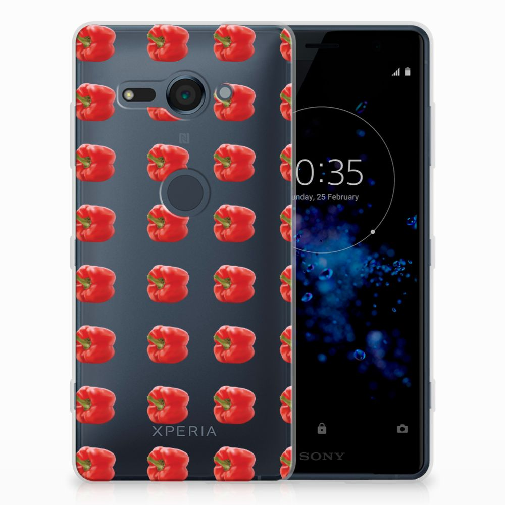 Sony Xperia XZ2 Compact Siliconen Case Paprika Red