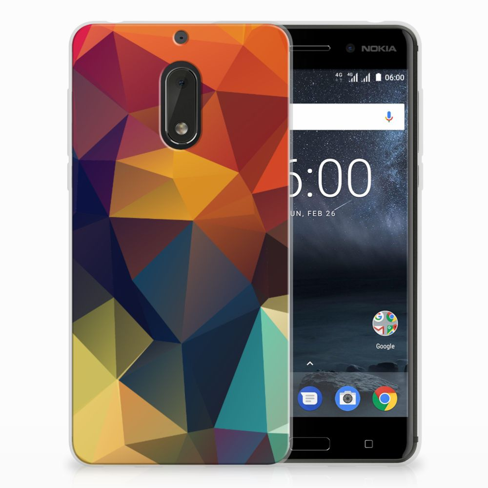 Nokia 6 TPU Hoesje Polygon Color