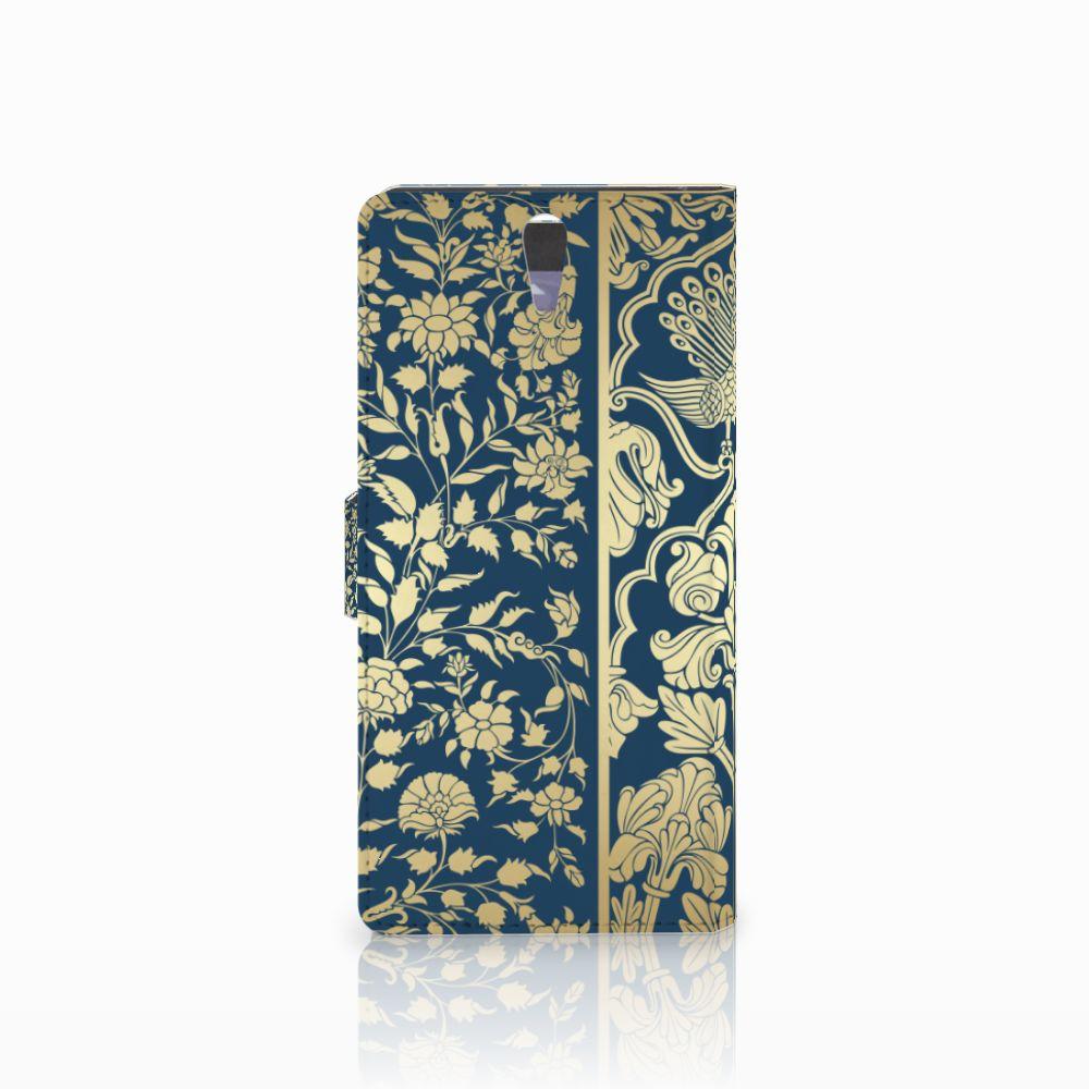 Sony Xperia C5 Ultra Hoesje Golden Flowers