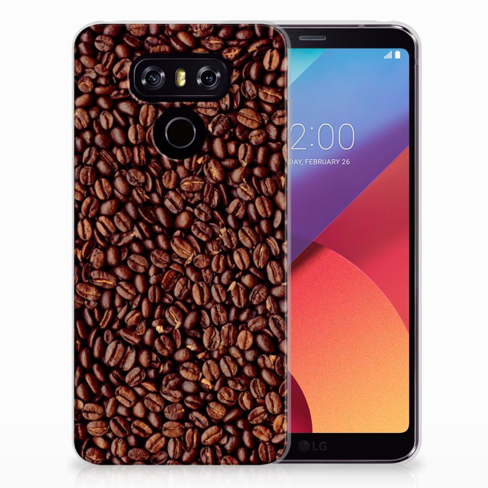 LG G6 Siliconen Case Koffiebonen
