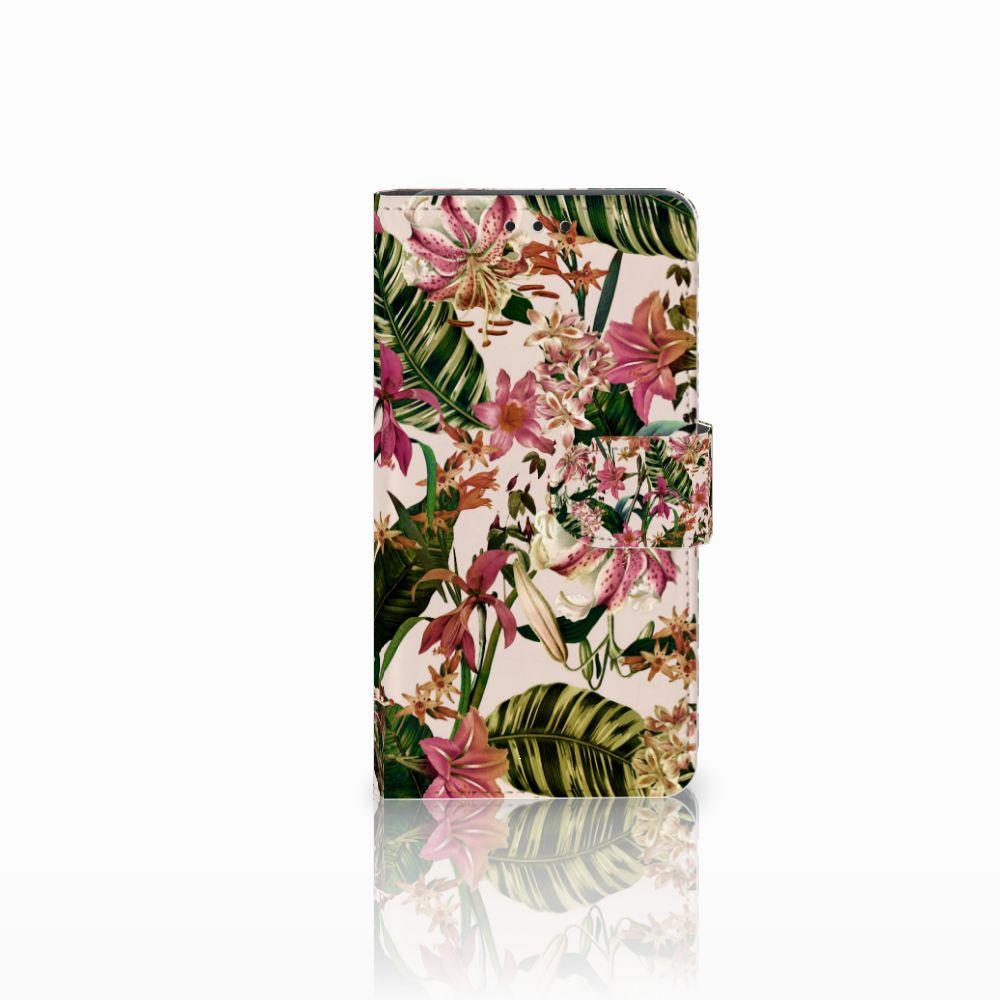 Huawei Y6 Pro 2017 Uniek Boekhoesje Flowers