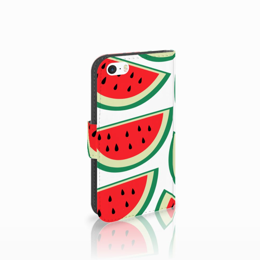 Apple iPhone 5 | 5s | SE Uniek Boekhoesje Watermelons