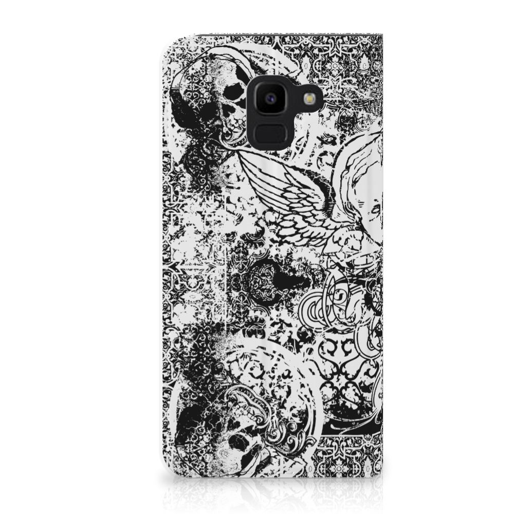 Samsung Galaxy J6 (2018) Standcase Hoesje Design Skulls Angel