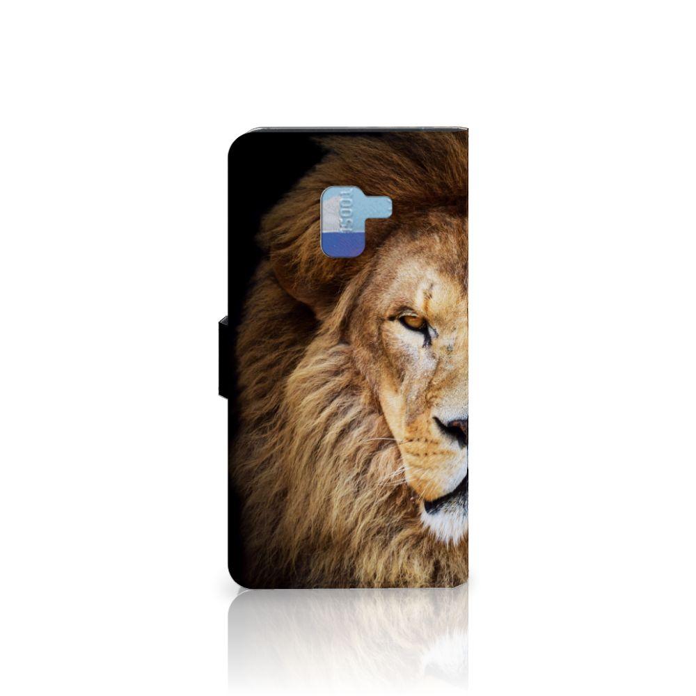 Samsung Galaxy A8 Plus (2018) Telefoonhoesje met Pasjes Leeuw