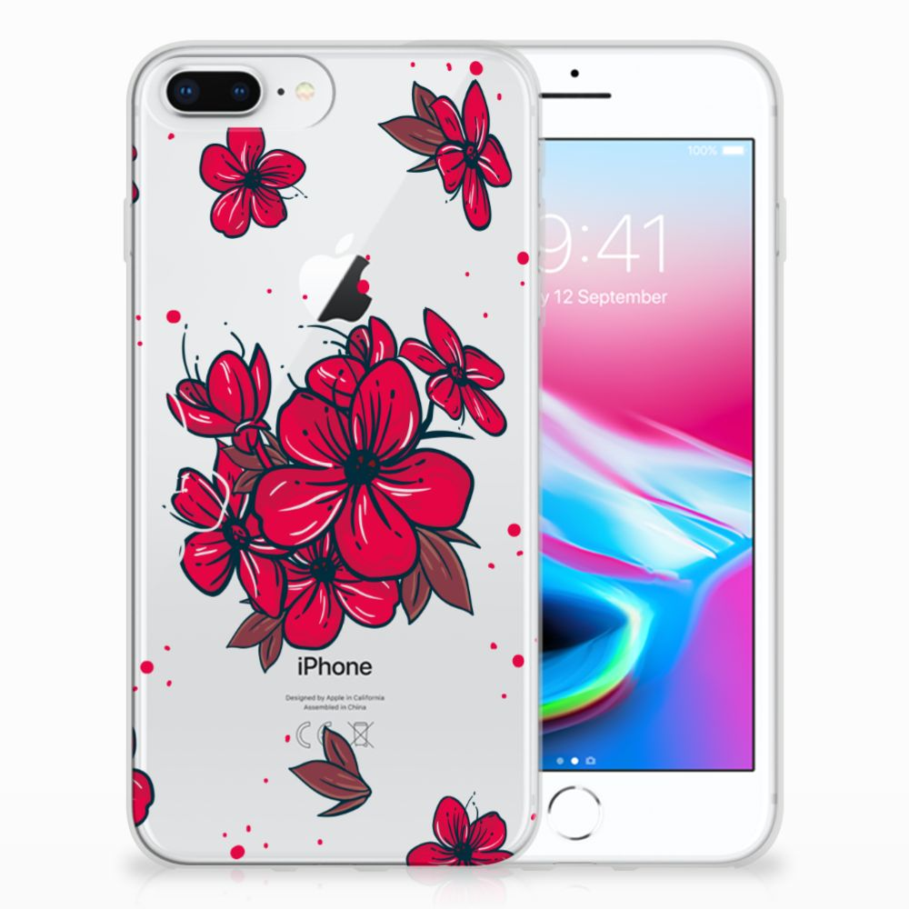 Apple iPhone 7 Plus | 8 Plus TPU Hoesje Design Blossom Red