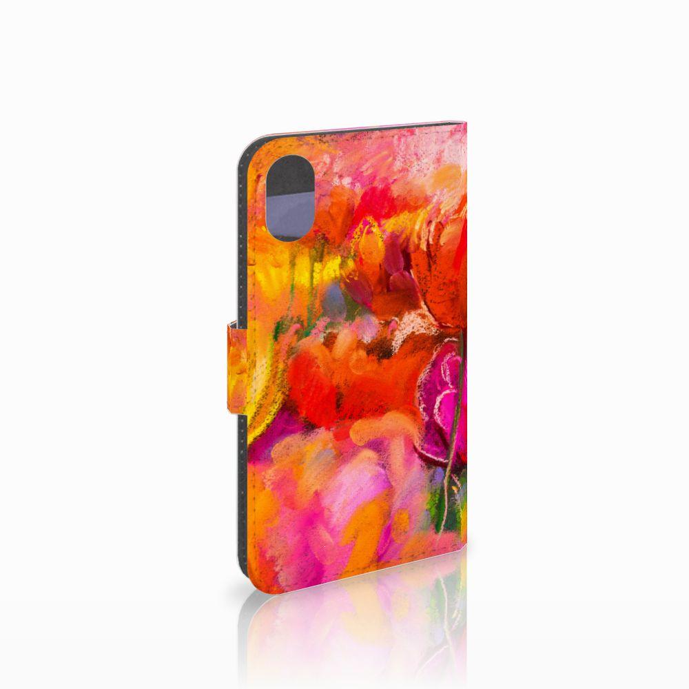 Apple iPhone X | Xs Boekhoesje Design Tulips